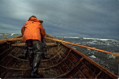 рыбацкая лодка поморов